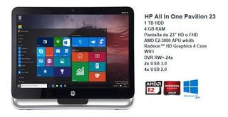Hp Pavilion 23 - Windows 10 Pro - 4gb Ram - 1tb 4 Core Amd