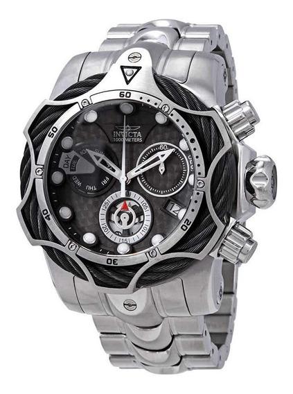 Relogio Tx2623 Invicta Venom 26650 Black Puls. Aço + Maleta