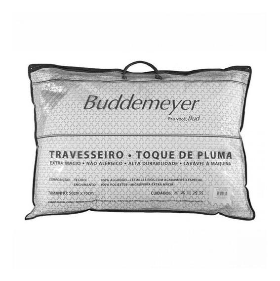 2 Travesseiros Buddemeyer Toque De Pluma 50 X 70 - Imbatível