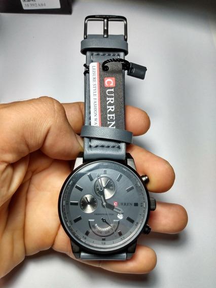 Lindo Relógio Curren, Sofisticado E Luxuoso