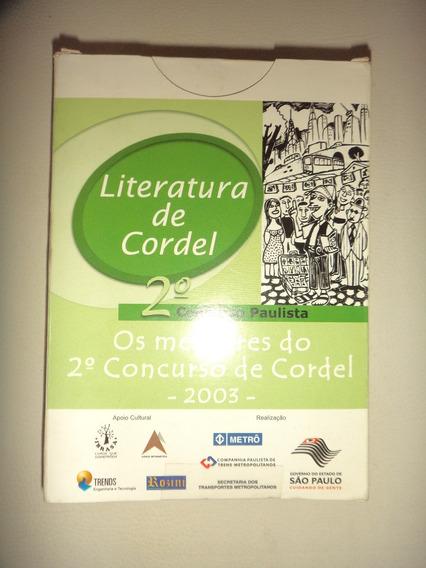 Literatura De Cordel Os Melhores Concurso 2003 Sao Paulo