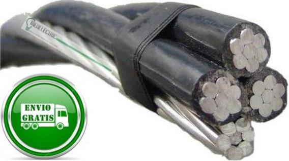 Cable De Aluminio 3+1 #6 Iusa Rollo Con 250 Metros-facturado