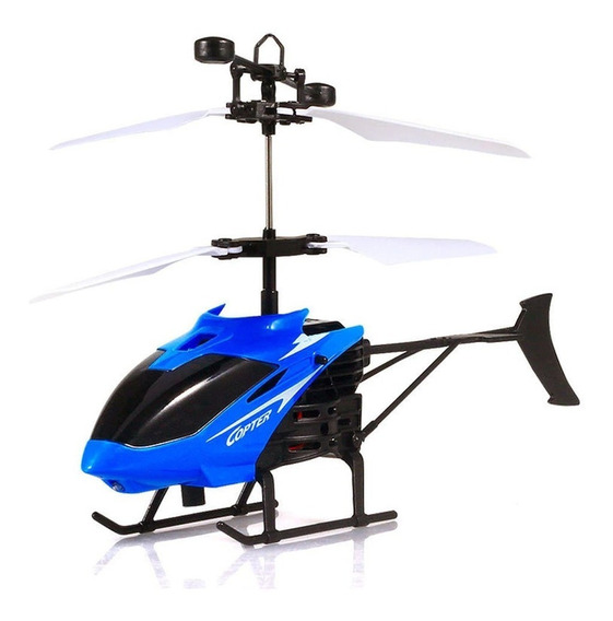 Helicóptero S/ Controle Remoto Voa Brinquedo Sensor Drone