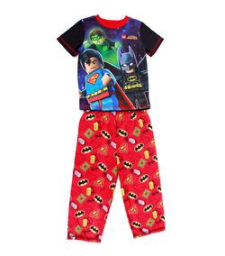 Pijama Lego Batman And Super Man Color Azul Y Rojo Para Niño