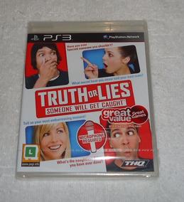 Truth Or Lies Ps3 Lacrado Midia Fisica * Frete Gratis