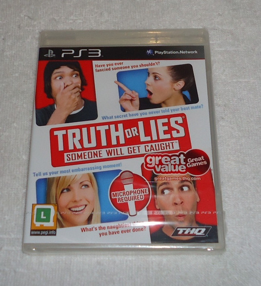 Truth Or Lies Ps3 Lacrado Midia Fisica * Frete Gratis