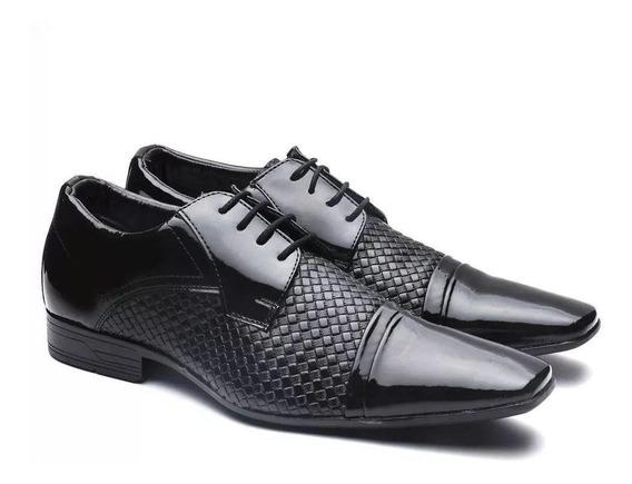 Sapato Social Masculino Versales Verniz Preto 60027