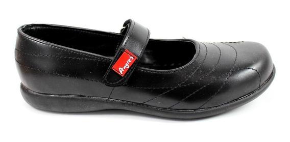Guillermina Colegial Mujer Nena Angie Negra Zapato N°34-40