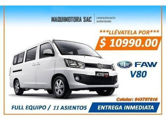 Faw Actis V80 11 Asientos Fab. 2019 1500cc.toyota Full