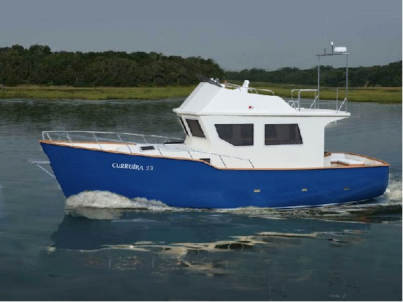 Trawler Curruira 33 Em Fabricação Casco Piso Tanques Etc