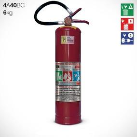 Extintor De Pó 6 Kg Abc + Suporte De Parede+mangueira+nf