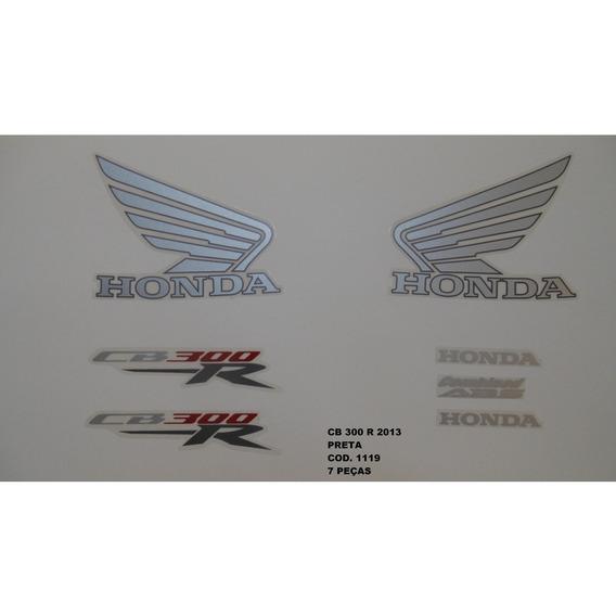 Faixa Adesivo Completo Honda Cb 300r Preto - 2013 - 13