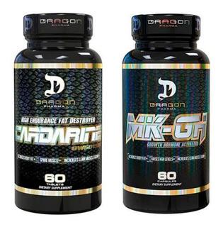 Cardarine 60caps + Mk-gh 60caps Dragon Pharma Importado Eua