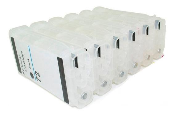 Cartucho Recarregável Hp72 T1100 T610 T620 T770 T790 Chipful