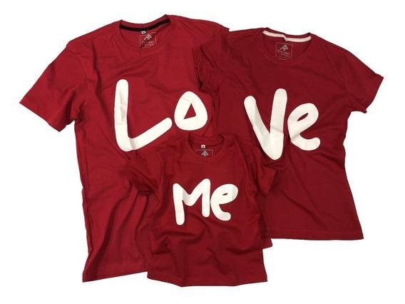 Camisa Casal 3 Un Love Familia Kit Camisetas 100% Algodão