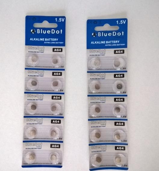 Baterías Alcalinas Ag4 Bluedot (2 Sobres De 10 C/u)