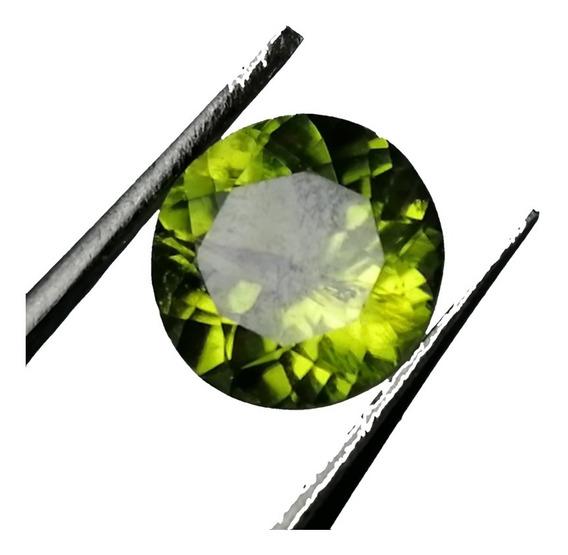 1.79ct 100% Natural Peridoto Verde Redondo Corte Diamante