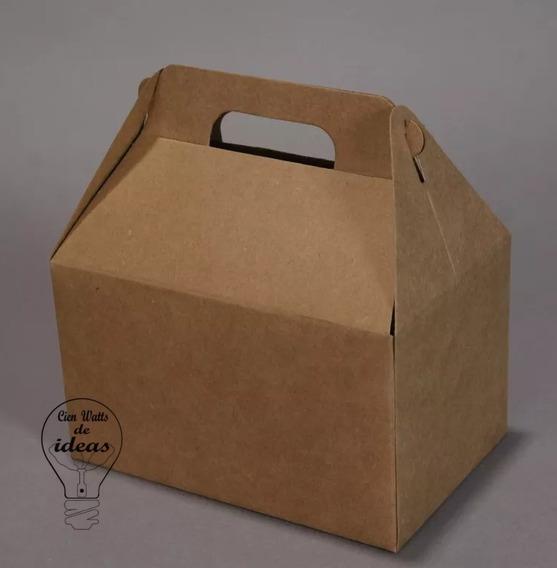Valijita- Cajita-papel Kraft X 10 Unidades