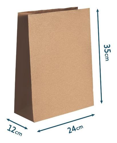 Saco Papel Kraft G G - 24x36x12 - Sem Impressão 100 U