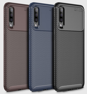 Capa Case Anti Impacto Galaxy A50 Carbon Fiber