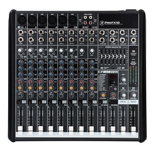 Mesa Som Mixer Mackie Profx12 V2 16 Efeitos 2 Ax Usb Nota