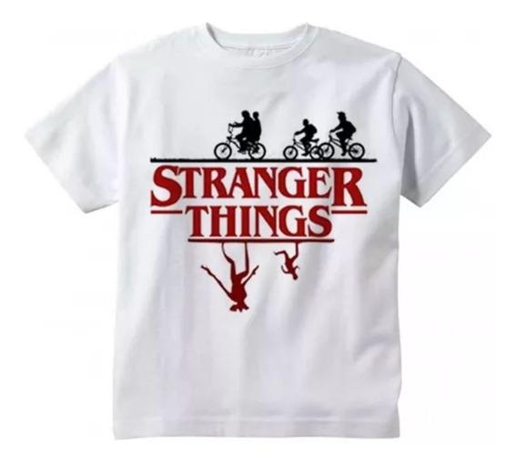Camiseta Stranger Things Adulto Série Personalizada Nome