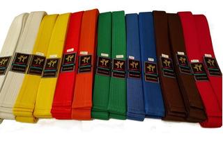 Cinturon Artes Marciales 2 Mt 10 Costuras Taekwondo Itf Wtf