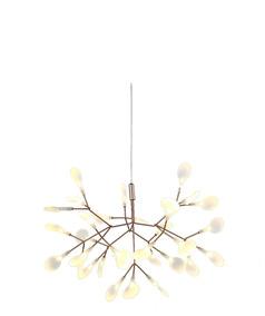Lustre Pendente Moderno Led 15w Twing Dourado Ø51cm +luz