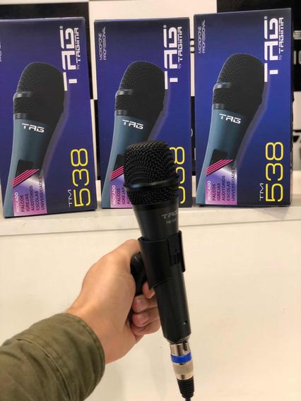 Kit 3 Microfones Tag + 3 Cabos De 5m Cada Tm538