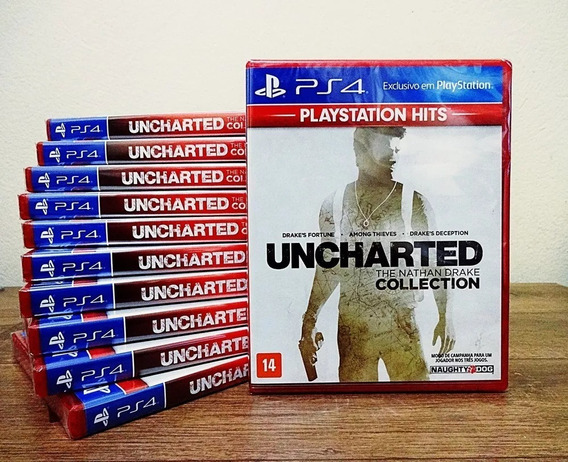 Uncharted Collection Ps4 1+2+3 Mídia Física 100% Português