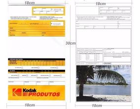 Envelope P/ Fotoacabamento Kodak Ou Paisagem 300pçs