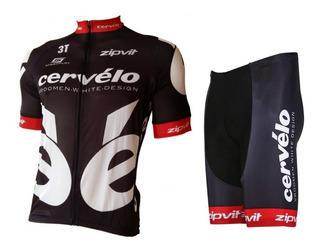 Conjunto Ciclismo Barbedo Cervélo Camisa E Bermuda Masculino