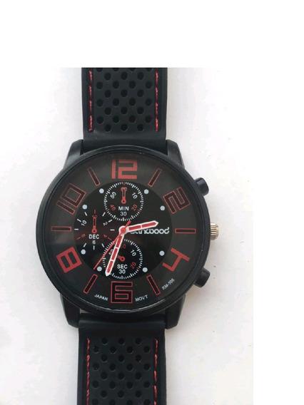 Relógio Masculino Sport Sanwood F1 Silicone Aço