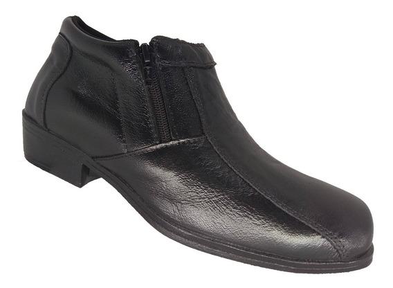 Bota Masculina Social Cano Curto Couro Br2 Footwear 10594