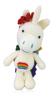 Unicornio Peluche Amigurumi Crochet Rulos Pato Coya