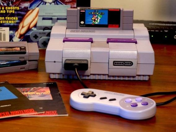 Video Game Super Nintendo Antigo Em Ate 12x Sem Juros
