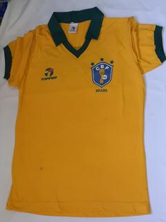 Camisa Seleção Brasileira Press 1986 Topper Essa Vc Não Tem!