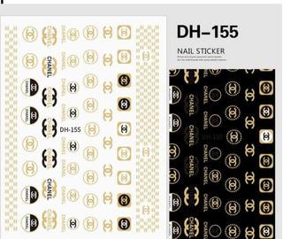 Promoção 130 Adesivos De Unhas Imagem Da Marca Famosa Chanel