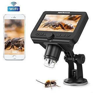 Microscopio Wifi Hd 1080p Pantalla Lcd De 4,3 Pulgadas, Cá