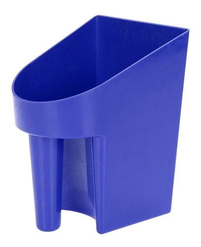 Pegador Em Plástico Para Ração E Água Azul - K&d Equestrian