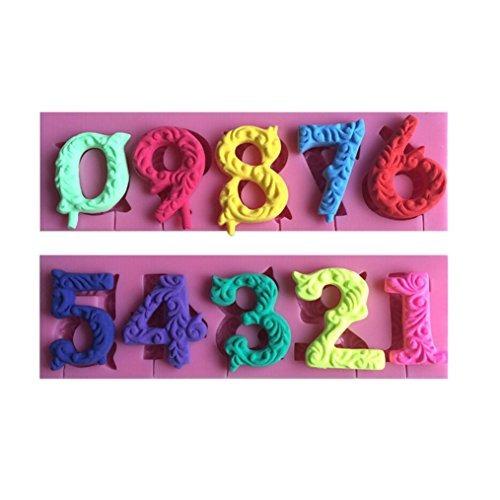 Imagen 1 de 7 de Fly 09 Numbers 3d Silicone Mold Para Herramientas De Decorac
