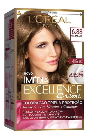 Coloração Imédia Excellence Creme - 6.88 Mel Tabaco