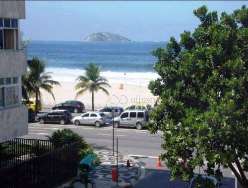 Apartamento Na Quadríssima Com Vista Lateral Praia Do Leblon - Ap1487