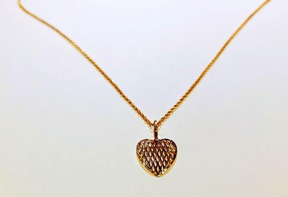 Cordão Pingente De Coração - Ouro 18k