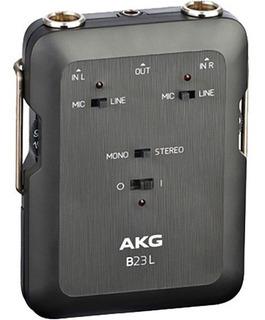 Akg B23 L Fuente Phantom Con Grabador 2 Ch Mixer