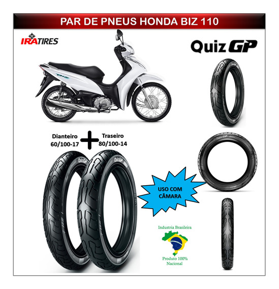 Kit Pneu Honda Biz 110 Todas Dianteiro E Traseiro