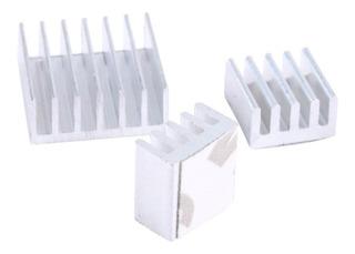 Disipadores Aluminio Kit X3 14x14 9x9 Arduino Raspberry Led