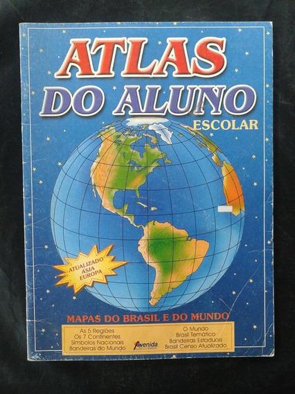 Livro Atlas Do Aluno Escolar Mapas Do Brasil E Do Mundo