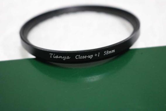 Jogo De Filtros Close - Up Tianya 58mm Cannon Nikon