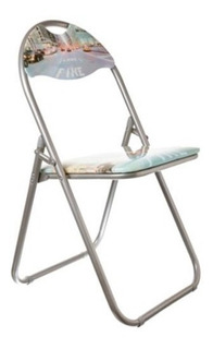 Silla Plegable Metalica + Resistente Jardin Aire Libre Ramos